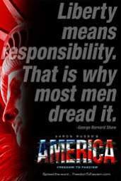 Liberty = responsibility