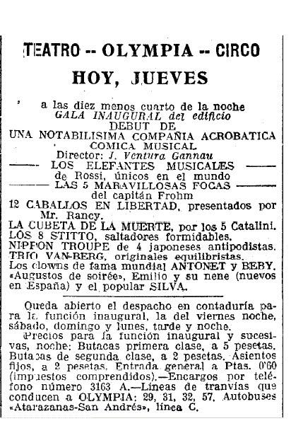 Acte inaugural 4 desembre 1924