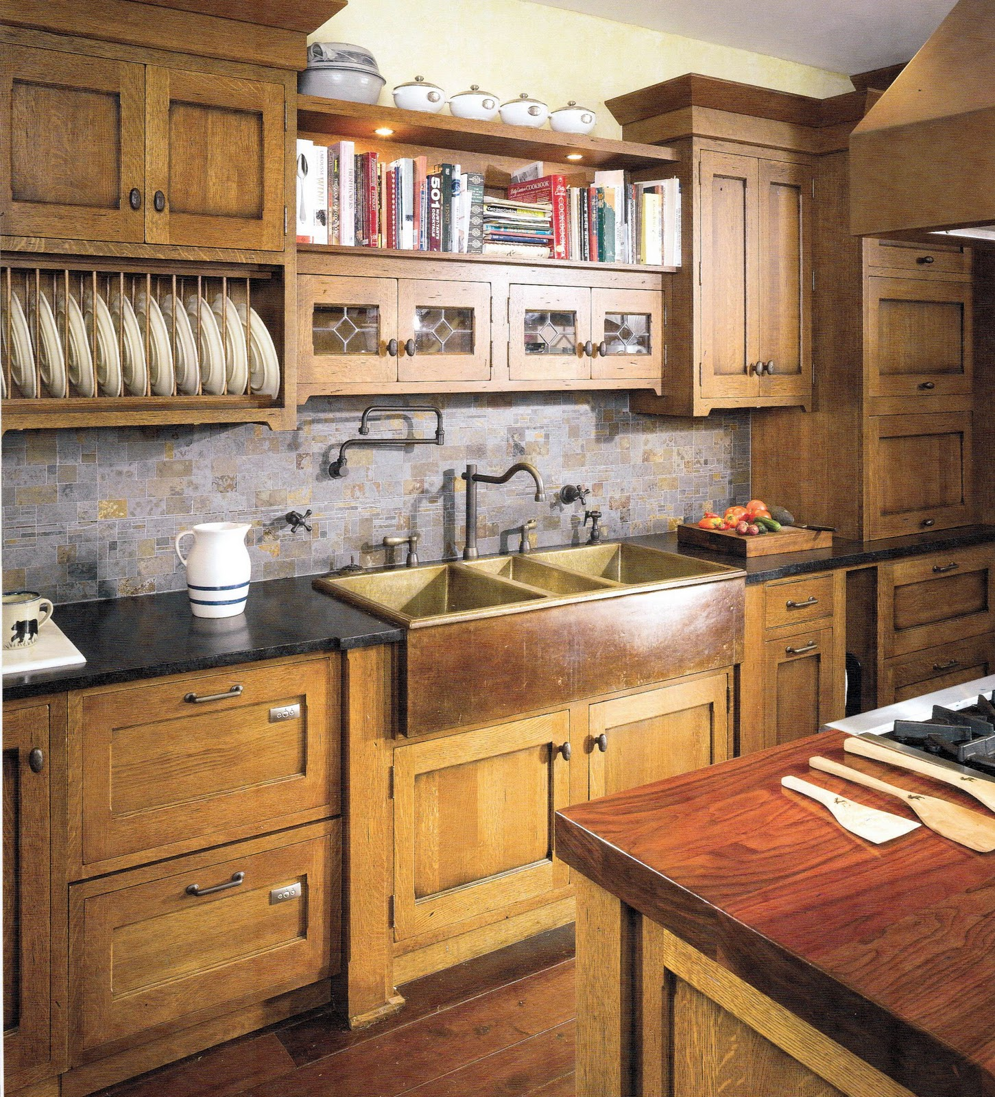 Craftsman Interiors Kitchen Afreakatheart