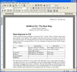 abiword traitement texte gratuit