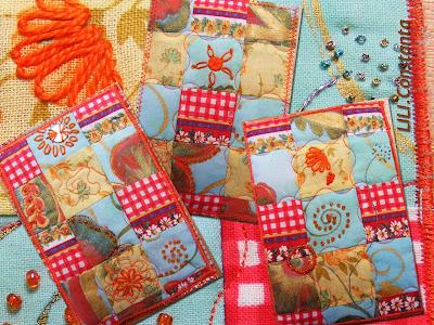carti postale textile - Parfumul verii
