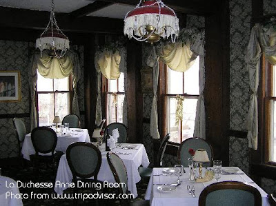 Dining Room in La Duchesse Anne in Mt. Tremper, NY
