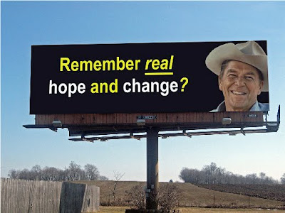 Ronald Reagan Real Hope and Change Billboard
