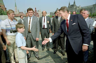 Vladimir Putin and Ronald Reagan