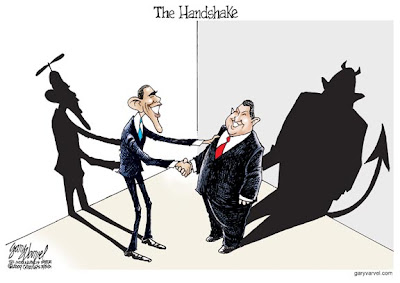The Handshake - Obama and Chavez