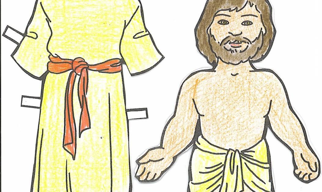 MATERIALES DE RELIGIÓN CATÓLICA: JESÚS: RECORTABLE Y ROPA. COLOR