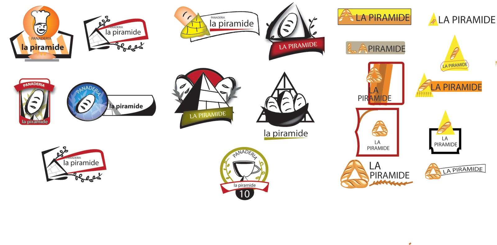 migueloo: rediseño logo panaderia la piramide