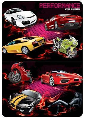 Vetores de Carros e Motos de