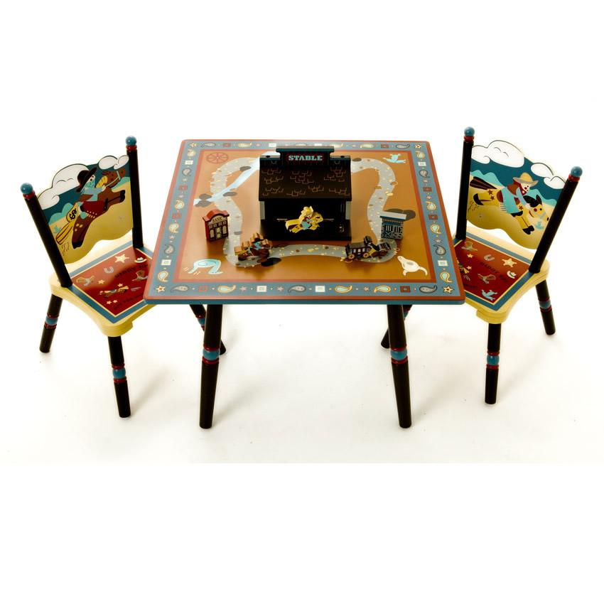 Perfect fit for kids wild west kid table amp chair set
