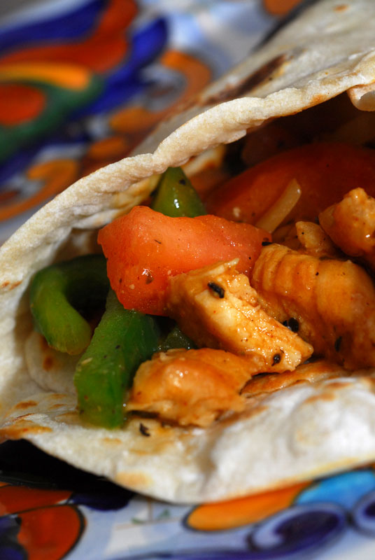 Chicken Fajitas & Homemade Flour Tortillas