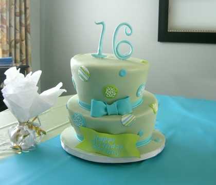 16th Birthday Party Cakes. her 16th birthday party in