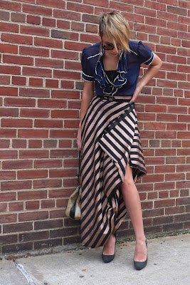 striped skirt