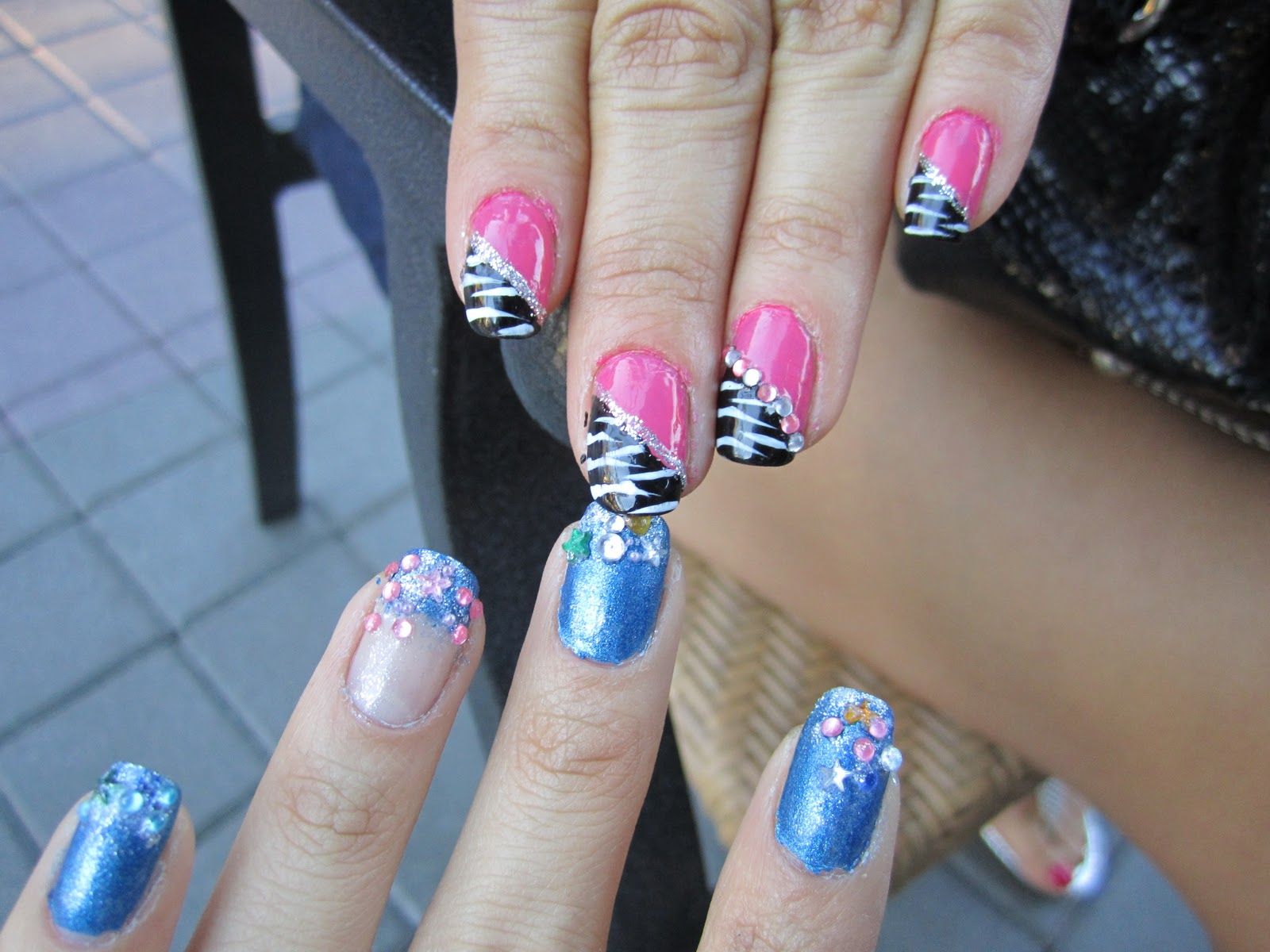 Zebra Print Nail Design For Short Nails - Anna Charlotta