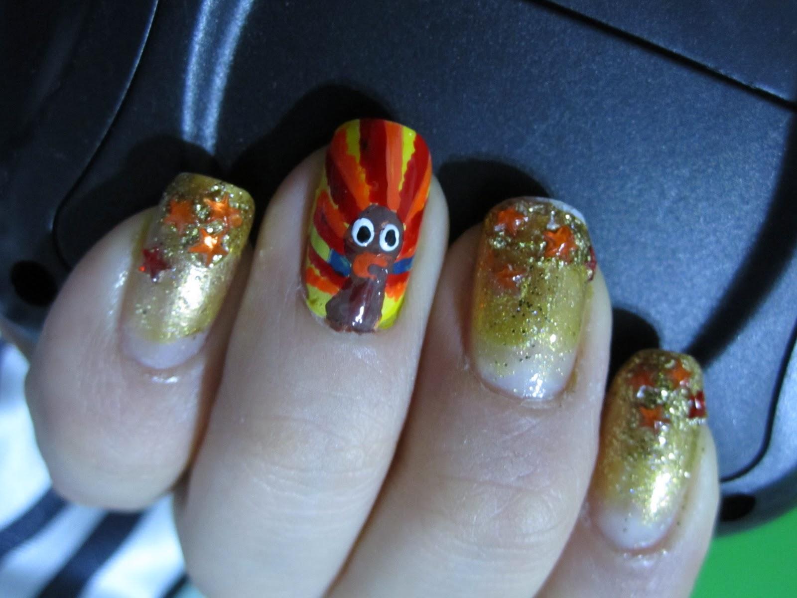 Thanksgiving Nail Designs - Pccala
