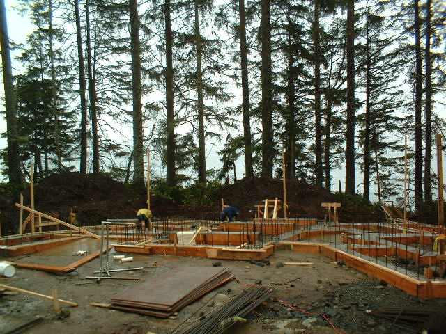 View of front entry area before - Landscaping On The Wild West Coast Jonathan Craggs Landscape Design