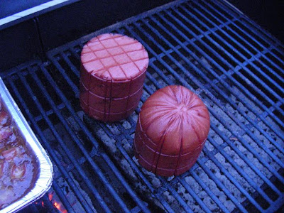 Grilled Bologna Not Slices An Entire Chub Of Bologna