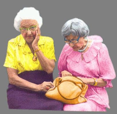 Lady Fashion on It S Me I Think  Two Little Old Ladies