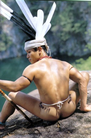 nude photos Native american man