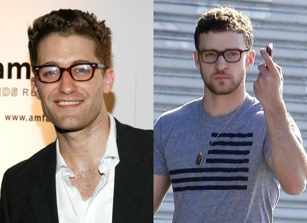 Do Justin Timberlake and Matthew Morrison look alike since they are playing