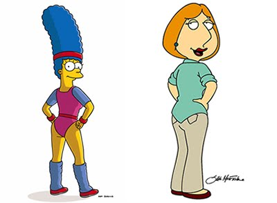 griffin Marge lois lesbian and simpson