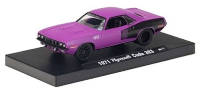 Marks Diecast M2 Machines Drivers Release 2 1971 Plymouth Baracuda Primer Purple