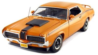 Mercury Diecast American Muscle Elite Edition Autoworld 922 1970 Mercury Cougar Eliminator Orange / Black Accents