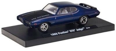 Pontiac Diecast  M2 Machines 1969 Pontiac GTO Judge Pearl Blue  Link To Pontiac Diecast