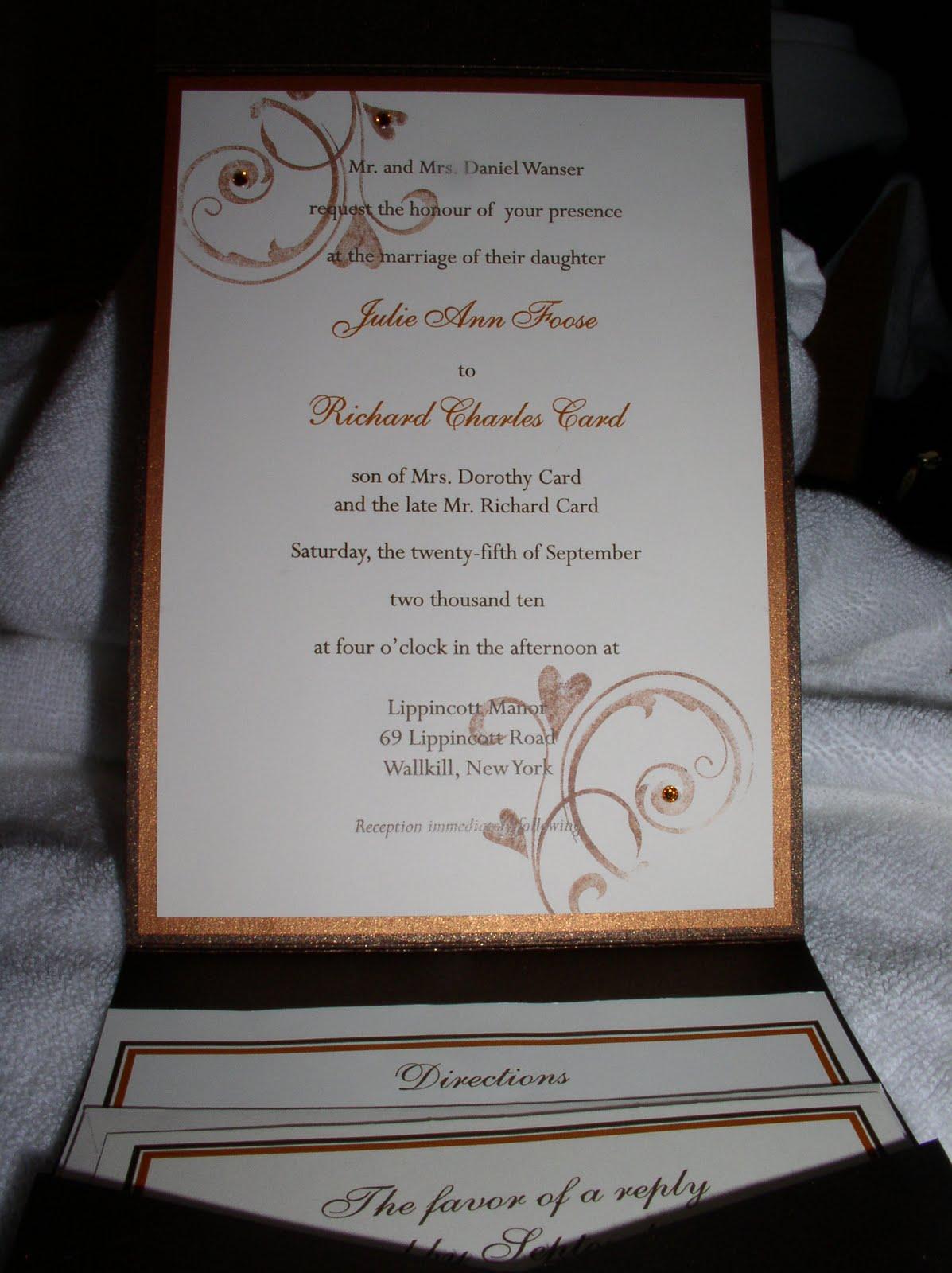 A Peek Inside The Creative Corner: Beautiful Wedding Invitation Set