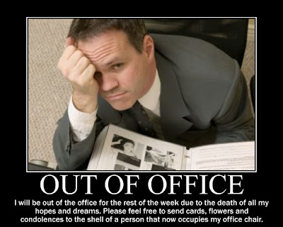 Out of office funny poster death in family