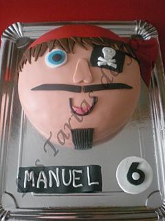 Tarta decorada pirata. Las tartas de Jose. Castellón.
