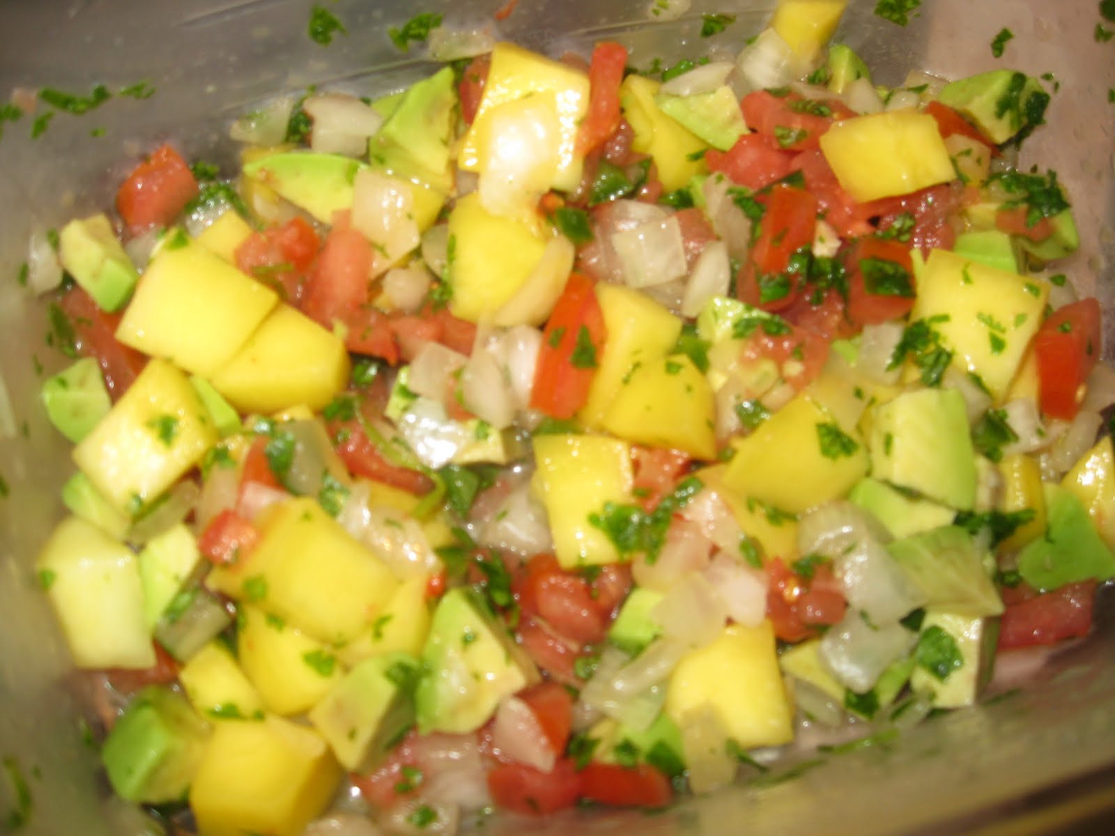 Nana's Recipe Box: Chicken Tacos with Mango-Avocado Salsa