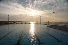 pool at sunrise
