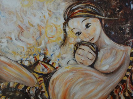 Paintings Of A Child S Hug