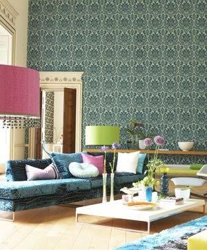 Papel pintado arabella designers guild d 39 orte zaragoza cortinas estores panel japon s - Designers guild espana ...