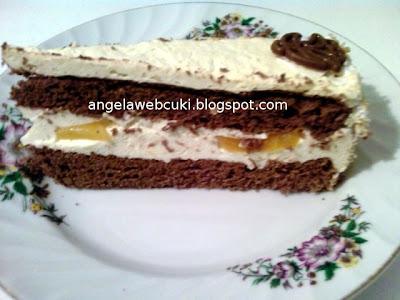 egy szelet tojáslikőrös kakaós torta