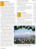 Armenia Leading the Top 10 List of Emerging Faith-based Destinations