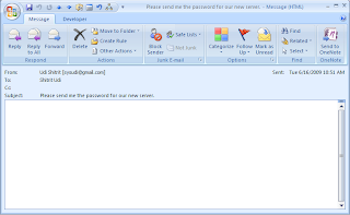 outlook message header