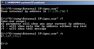 IPEX Usage example at the command line