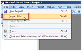 Outlook VBA - Import Modules and Forms