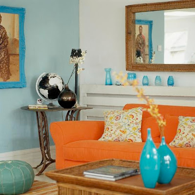 Orange And Blue Home Decor