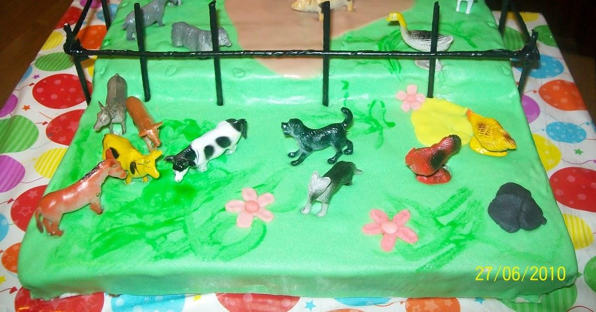 Tartas Decoradas Con Animales Plastico