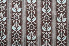 brown & teal print