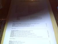 Area 31 menu