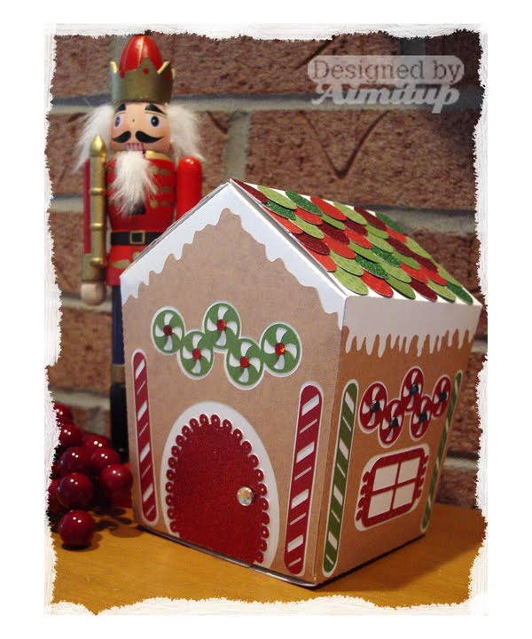 Amys Collages and Other Scrap Stuff: Gingerbread House Gift Box