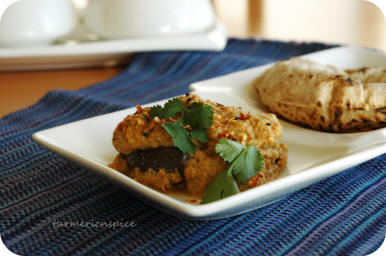 the curry goes very well with the small baby eggplants serve with hot ...