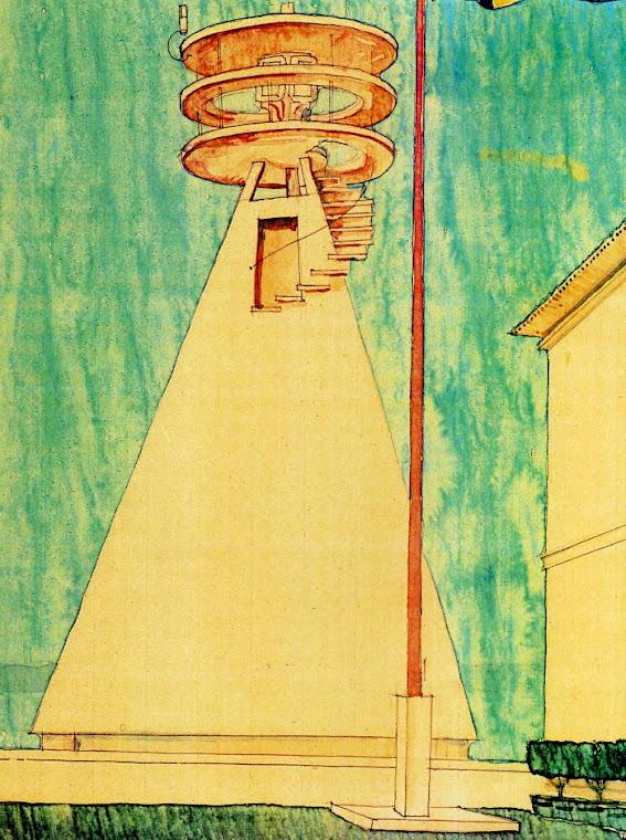Arquitecto Peder Clason Acuarela de 1929
