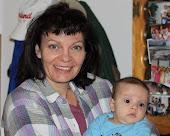I'm holding my Grandson Elijah