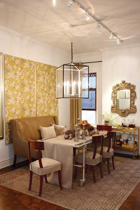 Here Are Two Dining Rooms That Caught My Eye. I Like These Wallpaper Panels    They Add Interest And Would Be Easy To Change. (image From Canadian House  And ...