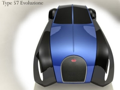 motorcycles-cars Bugatti Sports Car Abstraction Type 57 Evoluzione