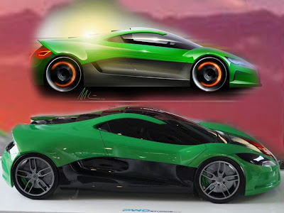 Volkswagen Sports Cars   VW Solar Powered Supercar Concept